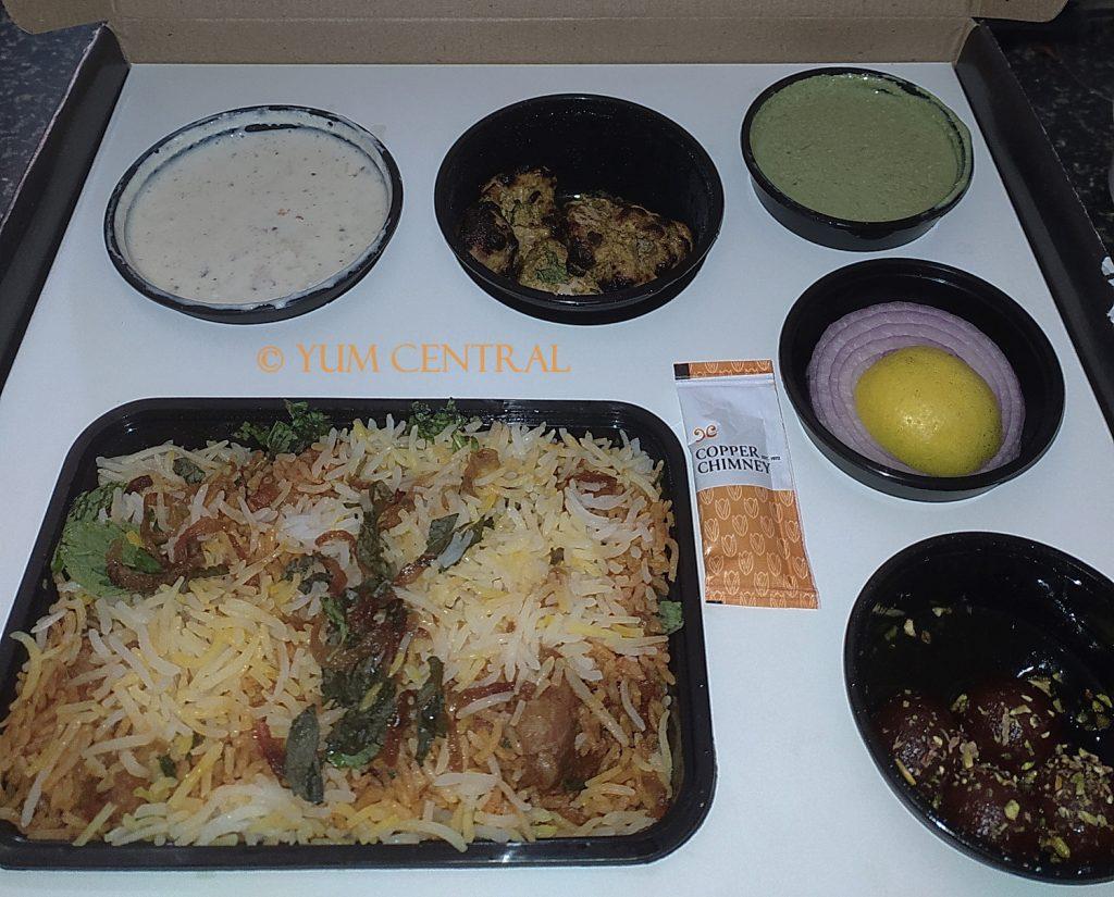 Mutton Biryani Meal @ Copper Chimney